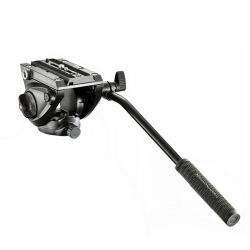 Manfrotto Testa Video MVH500AH - Testa video con base piatta, 1 leva fissa