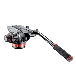 Manfrotto Testa video MVH502AH - Testa video con base piatta, 1 leva fissa