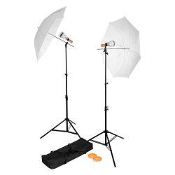 Westcott Basic – Kit 2 luci LED con ombrelli