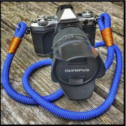 Hyperion Handmade Camera Straps blu elettrico