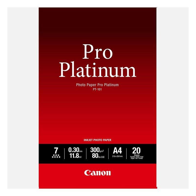 Carta fotografica Canon Pro Platinum PT-101 A4 - 20 fogli