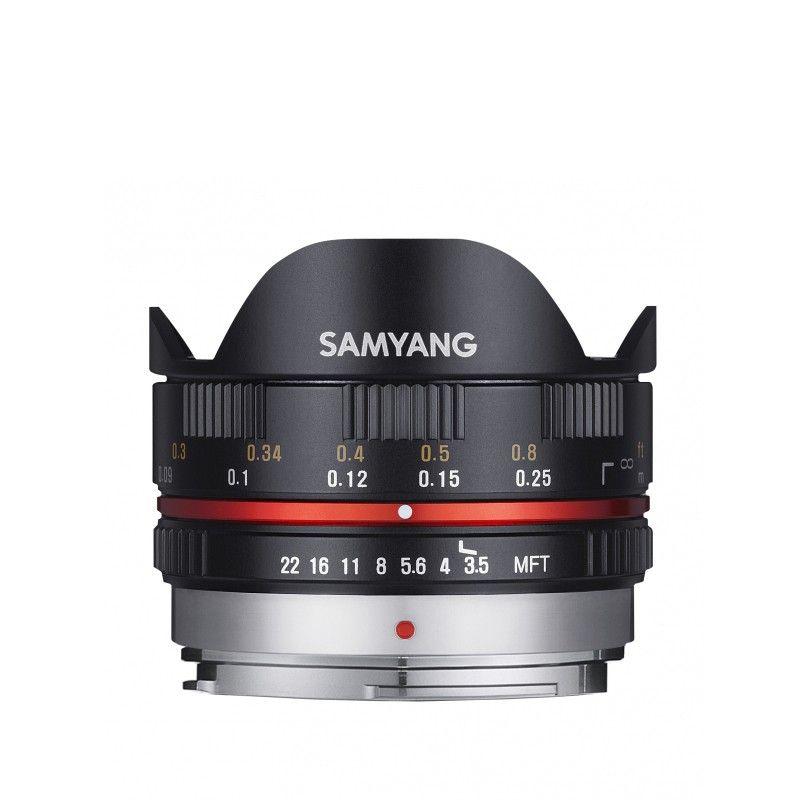 Obiettivo Samyang 7,5/3,5 Fisheye per micro 4/3