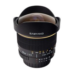Samyang 8/3,5 Fish-eye manual per Nikon